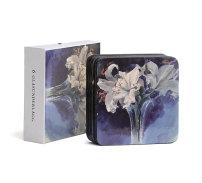 Glasunderlägg, Vita liljor (6-pack)